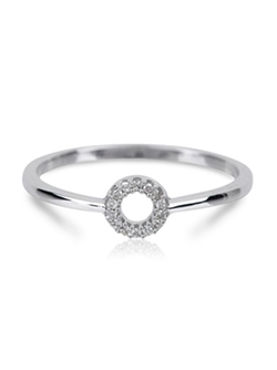 Adina Reyter - Super Tiny Pave Circle Ring