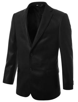 Mondaysuit - Leather Look Sport Coat Blazer
