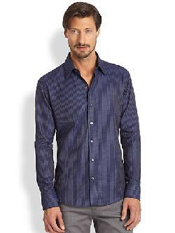 Zachary Prell  - Striped Cotton Sportshirt