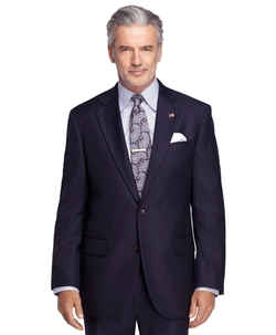 Brooks Brothers - Madison Fit Saxxon Alternating Stripe 1818 Suit