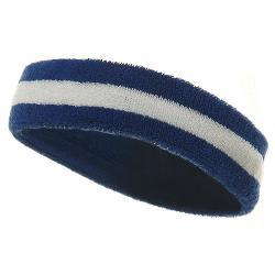 MG - Striped Cotton Terry Cloth Moisture Wicking Head Band