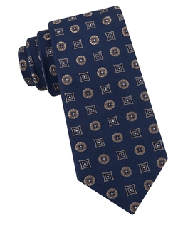 Black Brown 1826 - Medallion Silk Tie