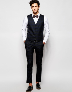 Asos - Prince Of Wales Check Vest