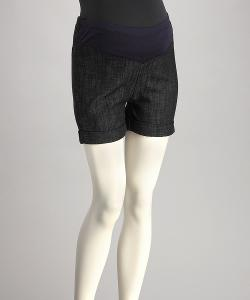 Zulily - Navy Blue Mid-Belly Maternity Shorts