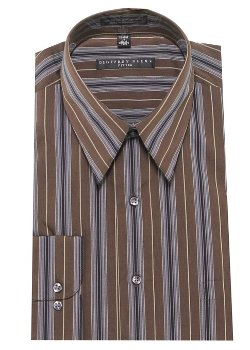 Geoffrey Beene  - Stripe Fitted Dress Shirt