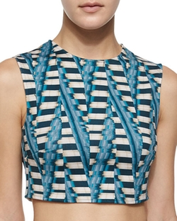 Ronny Kobo - Abstract-Print Crop Top