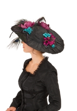 Recollections - Edwardian Pleated Taffeta Hat