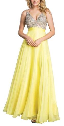 Meier - Rhinestone A Line Formal Chiffon Prom Dress