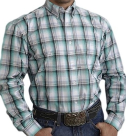 Roper - Jade Plaid Western Shirt