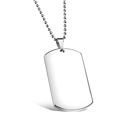Fate Love - Dog Tag Pendant Necklace