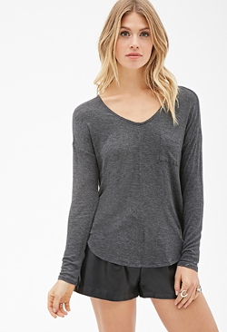 Forever 21 - V-Neck Pocket Top