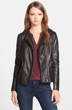 Trouvé - Collarless Leather Jacket