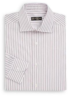Corneliani - Regular-Fit Striped Cotton Dress Shirt