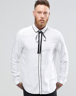 Asos  - White Shirt In Viscose