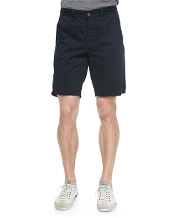 Rag & Bone	  - Flat-Front Cotton Shorts