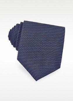 Forzieri  - Micro Dot Textured Silk Tie