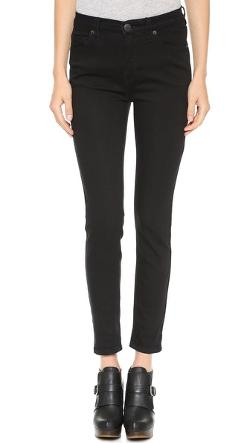 Free People  - High Rise Roller Crop Jeans