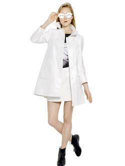 Courrèges  - Bonded Cotton Vinyl Trench Coat