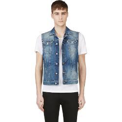 Dsquared2 - Blue Distressed Denim Vest