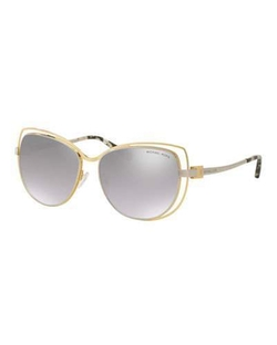 Michael Kors - Wire-Rim Mirrored Cat-Eye Sunglasses