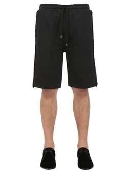 Dolce & Gabbana - Cotton Jersey Shorts With Trim Detail