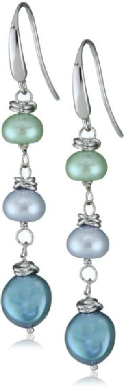 "Honora  - ""Halo"" Freshwater Cultured Pearl Dangle Earrings"