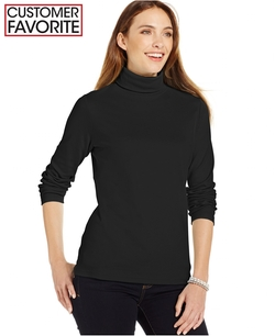 Karen Scott  -  Solid Turtleneck Sweater