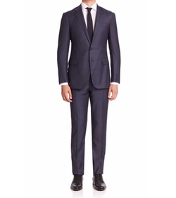 Ralph Lauren  - Purple Label Solid Two-Button Wool Suit
