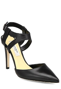 Saks Fifth Avenue Made In Italy Elysia  - Leather Ankle Strap Pumps