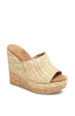 Very Volatile  - Sandstone Wedge Sandal