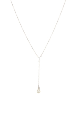 Nordstrom Rack - Baguette & Pearl Y-Chain Necklace