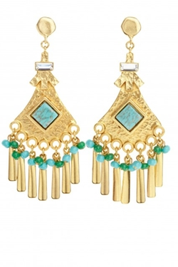Gerard Yosca - Shelly Gold Fringe Earrings