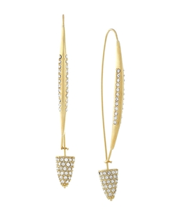 Cole Haan  - Pave Triangle Drop Earrings