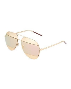 Christian Dior - DiorSplit Two-Tone Metallic Aviator Sunglasses