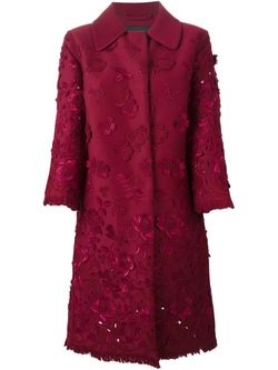 Ermanno Scervino   - Flowers Embroidered Coat