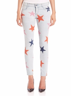 Stella McCartney - Star-Print Skinny Boyfriend Jeans