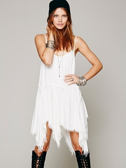 Free People - Tattered Up Shred Slip Dress