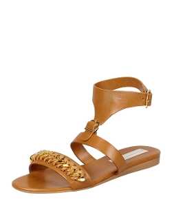 Stella McCartney - Removable-Cuff Flat Chain Sandals