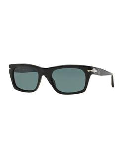 Persol  - Suprema Polarized Rectangular Acetate Sunglasses