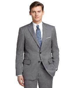 Brooks Brothers - Regent Fit Grey Herringbone 1818 Suit