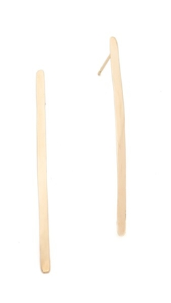 Blanca Monros Gomez - Long Curved Bar Stud Earrings