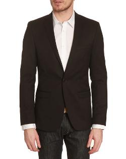 BEN SHERMAN - Camden Black Wool 1-button Jacket