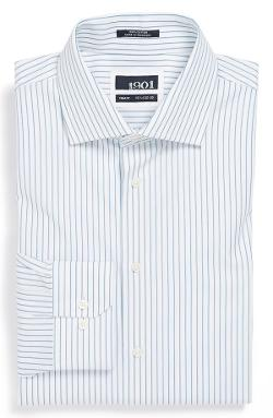1901  - Trim Fit Stripe Dress Shirt