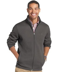 Izod  - Shaker Solid Full-Zip Fleece Jacket