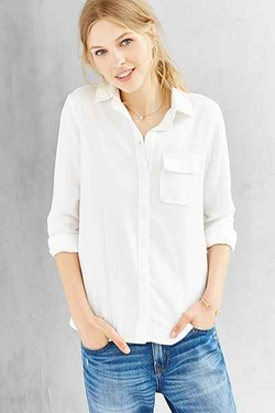 BDG  - Classic White Oxford Button-Down Shirt
