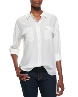 Equipment   - Signature Double-Pocket Blouse