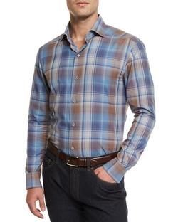 Ermenegildo Zegna  - Extra-Large Plaid Sport Shirt