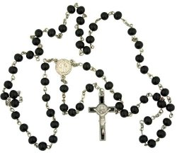Religious Gifts - Wood Prayer Beads Rosary Necklace