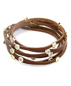 Chicnova - Diamante Multi-layer Leather Bracelet