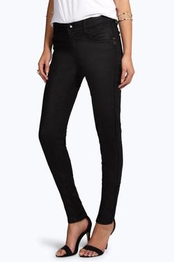 Boohoo Blue - Lois Coated Skinny Jeans